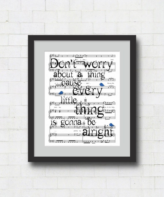 Dont Worry Lyrics Song Download: Don't Worry About A Thing Art Print / Bob Marley By