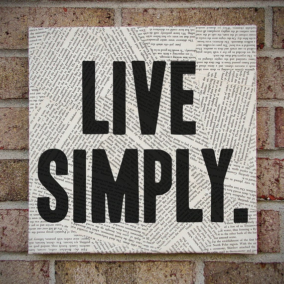 canvas wall art live simply bold statement wall by