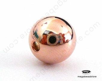 5 pcs 10mm Rose Gold Filled Beads Round Spacer Beads B39RGF