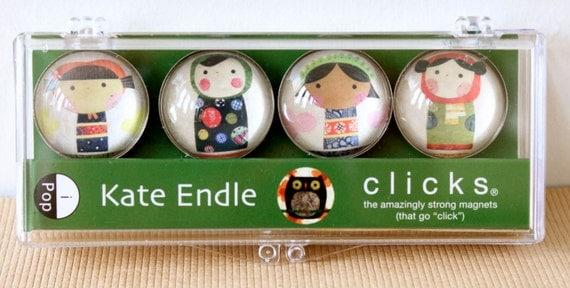 iPOP  Clicks Kokeshi Magnet set