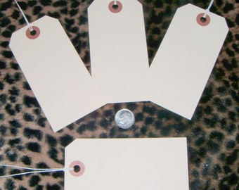 50****  Large blank  manila, price or gift hang Tags ,with strings,shipping included