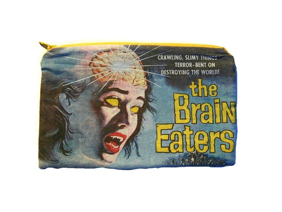 The Brain Eaters - Horror Movie - Makeup Bag / Pencil Pouch