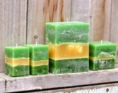 Set of 4 Green Tea with Cucumber and Mint Scented Candles