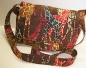 Cross Body Bag or Purse Giraffes Fabric