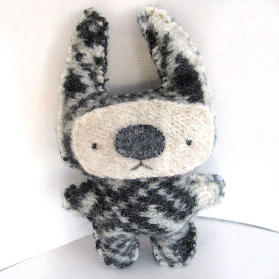 Black and White Foo - Recycled Wool Plush Toy