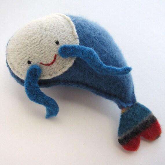 Blue Shrimp - Recycled Cashmere Plush Toy