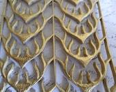 Metallic Gold Foil Embossed German Dresden Scrap  Antlers