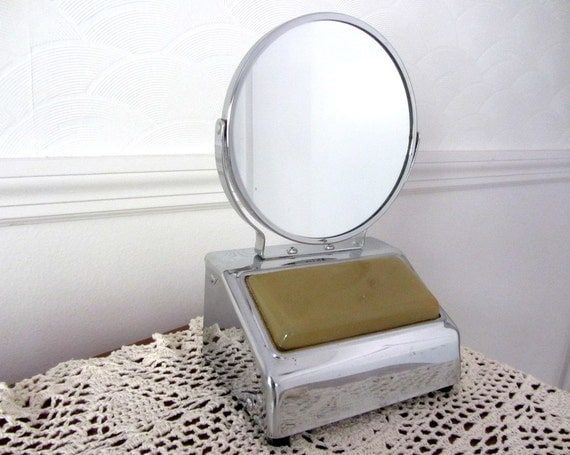Vintage Acme Lighted Makeup Shaving Mirror With Magnifier And