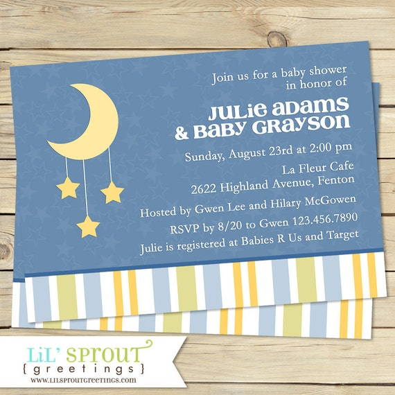 Twinkle little star moon baby shower invitation by lil sprout il570xn m4hsunfo