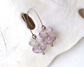 Rose de France Amethyst Earrings, Lilac Amethyst Minimalist Earrings, February Birthstone Earrings, Modern Earrings, Pastel Jewelry, Judy