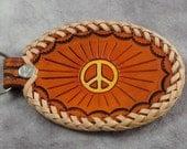 Peace Sign  Key Fob