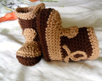 Made to Order Two Tone Decorated Baby Cowboy Boots - 0-24 months - You Tell Me the Color