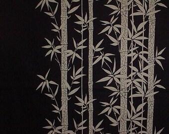 Navy Bamboo Grove Motif Furoshiki Japanese Fabric Wrapping Cloth 100cm w/Free Insured Shipping