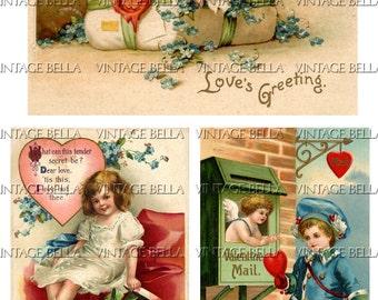 Vintage Edwardian Postcard Ellen Clapsaddle Valentine Digital Download 327 - by Vintage Bella