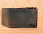 Monogram Wallet - Leather in Blue