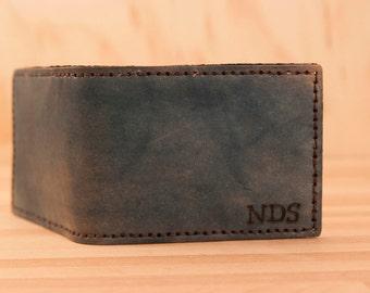 Monogram Wallet - Leather in Blue