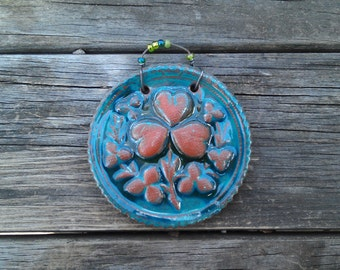 Good Luck Celtic Ceramic Medallion