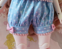Pick Your Size Fairy Kei Bloomers Blue and Pink Cute Lolita BJD Doll MSD Art Body YoSD Kaye Wiggs SD Super Dollfie Mikhaila Minifee