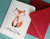 What a Fox- set of 6 valentine greeting cards
