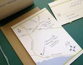 MAP COLLECTION- Wedding Map invitation, Newport Beach