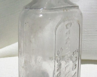Antique, Sonora California Medicine Bottle (Clear665)