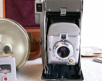 Vintage Polaroid Land Camera Highlander Model 80 with Leather Case 1950s
