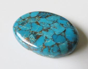 Blue Copper Turquoise - Oval Cabochon, 37.45 cts - 22x30 (BCT104)