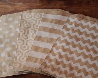 Kraft Paper Bags -- Favor Bags- Baked Goods -- 12 Count --5x7.5