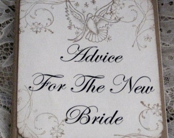 Journal Moleskine ruled Notebook Advice For The New Bride with Bird .......... Lot A