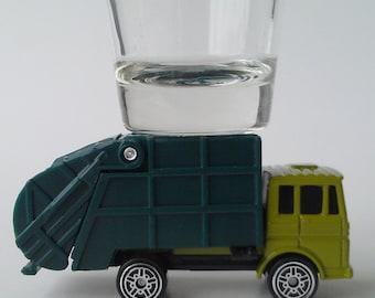 the Original Hot Shot shot glass, Garbage Truck, Sanitation Dept., Maisto