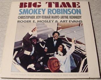 CLEARANCE Smokey Robinson LP soundtrack Big Time - vintage vinyl record album 1977 funk soul collectible format