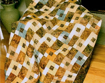 Quilt pattern - Blondies - an easy modern patchwork quilt