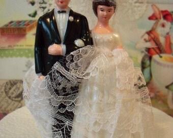 Love is Sweet / Sale / Vintage / Wedding Cake Topper / Bride and Groom / DIY / Bridal Shower Decoration