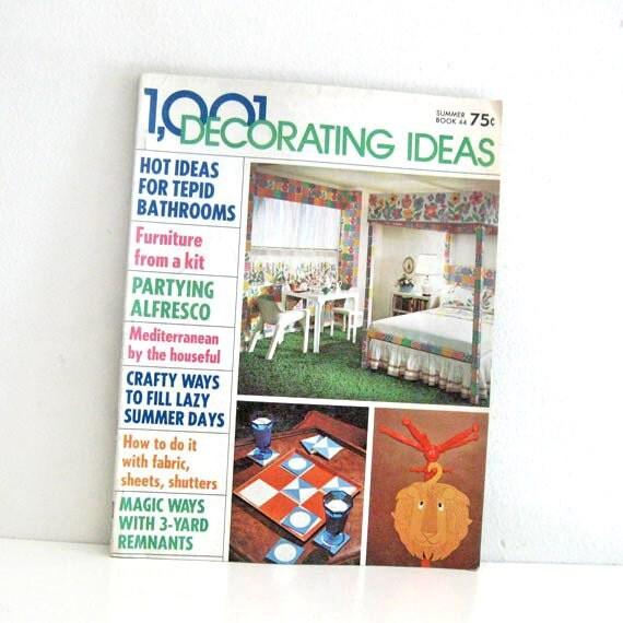 Magazine For Home Decor: Vintage 1970s Home Decor Magazine 1001 Decorating Ideas By