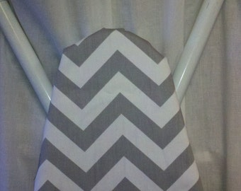 CHEVRON IRONING BOARD Cover  Storm Gray and white  ironing Board cover Grey zigzag