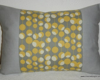 Decorative-Accent-Throw Pillow Cover-Free US Shipping-12 x 18 inch Cream, Gray, Mustard Olive Print