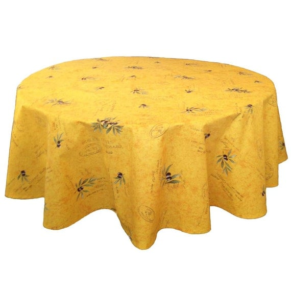 Provence Tablecloth 60 Inch Round Tablecloth