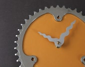 Bicycle Gear Clock - Vintage Yellow | Bike Clock | Wall Clock | Recycled Bike Parts Clock  Ask a Question