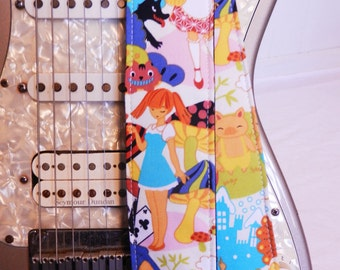 Alice in Wonderland Red Riding Hood Little Pigs Anime Guitar Strap