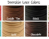 5 Feet 1/8 Inch Deerskin Leather Cord Lace String 7 Colors YOU PICK