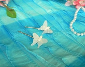 White Butterfly Barrette - For girls and women - get one to match your tutu