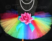 "Rainbow Tutu Skirt for Girls, Babies, Toddlers - NEW Economy Line Tutu - Imagine - 8"" Sewn Tutu - Custom SEWN Tutu - sizes Newborn up to 5T"
