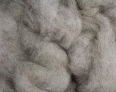 Gray Shetland/Alpaca Blend Roving - Natural Color