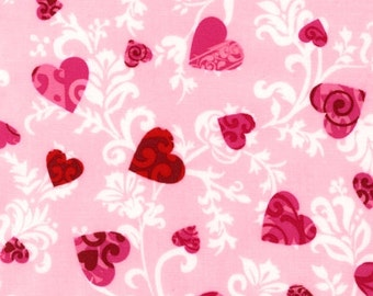 Love Hearts on PInk, from Robert Kaufman, yard