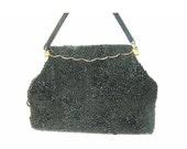 Vintage Beaded Black Purs...