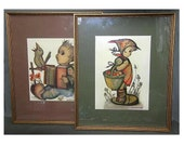Vintage Framed Berta Humm...