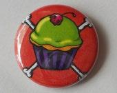 Evil Cupcake 1 Inch Pin