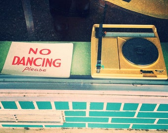 Featured in Photography Monthly No Dancing - Austin Record Shop Metallic Photograph