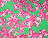 """Lilly Pulitzer fabric """"ALL A FLUTTER"""" 100% cotton, 18"""" by 18"""""""