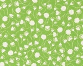 Green Falling Flowers Peacock Lane Fabric  1 yard...DC5084 CLEARANCE SALE